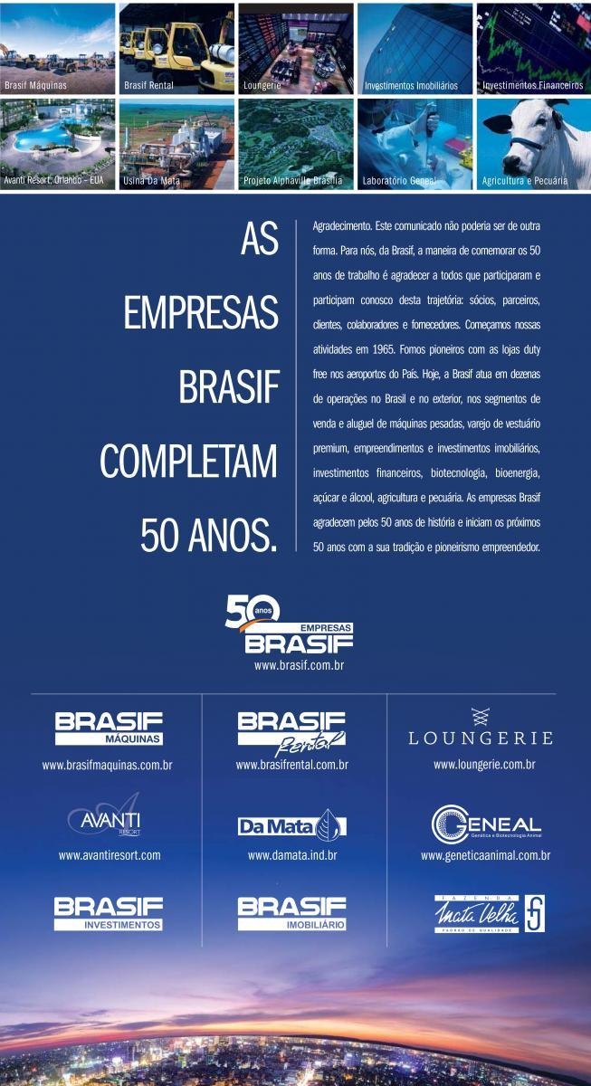 Empresas Brasif completam 50 anos.